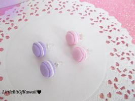 Macaroon Stud Earrings by LittleBitOfKawaii