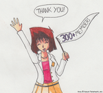 Thank You to the 300+ Anzu Fans by SamCyberCat