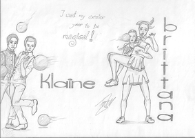 Klaine and Brittana by ivy11