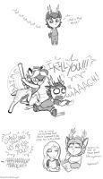 Skunk hates Mias by accident by raygirl
