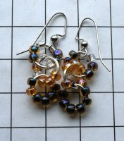 Glass Drop Earrings... by MoreThanNothing