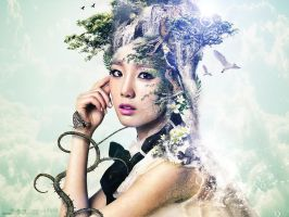 Snsd Taeyeon:Natures beauty by Jover-Design