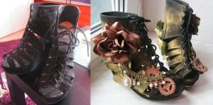 Steampunk Shoes Red Queen by GermanyKai
