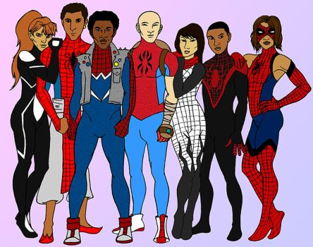 Spider-verse Squad by tapwater86