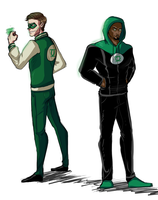 Casual Green Lanterns by izzy1992