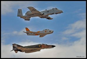 Air Force Heritage 2011 by AirshowDave