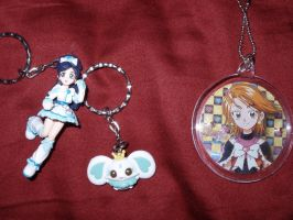 Pretty Cure Max heart Keyrings by KittyChanBB