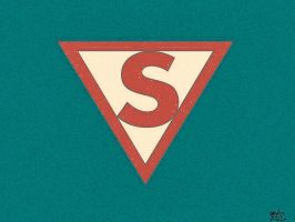 Golden Age Superman Logo Aged by jmralls2001