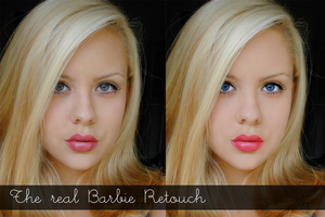 The real Barbie Retouch by hellomia