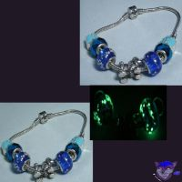 European-Style Bracelet: Blue Poodle Paws by NightWolfRose