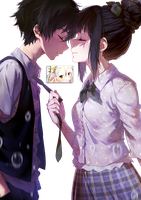 Chitanda And Oreki Render by Totoro-GX