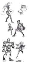 Titans Sketches by AbbyGaby005