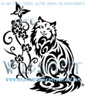 Cat And Butterfly Tattoo by WildSpiritWolf