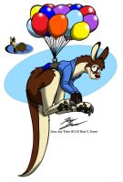 Floating Kangaroo by Slasher12