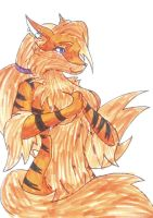 Bad pic of Arcy, my full furry persona by FruityArcanine