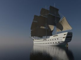 Sailing ship WIP 3 by forgedOrder