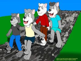 Wolves and Wolfes Walk by KBAFourthtime