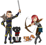 Armored pets by AcrylicCat