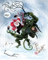 Santa vs. Krampus by RtRadke