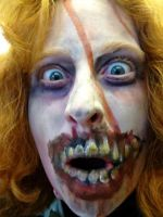Zombie makeup by Fire-Redhead