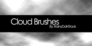 Cloud Brushes by RainyDoll-Stock