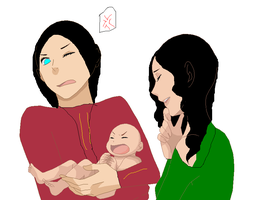Rahl,Kahlan and child by JulieMakimot