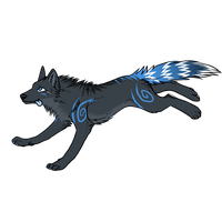 new wolf design by TechnicolorDog