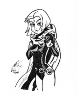 Bruce Timm Raven by MattColvin
