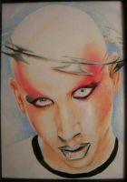 marilyn manson by GrizzlyGreenEyes