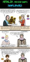Hetalia Mexico Snaps sunflowers by chaos-dark-lord