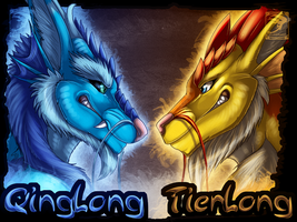 Badge Comish - QingLong vs TienLong by TwilightSaint