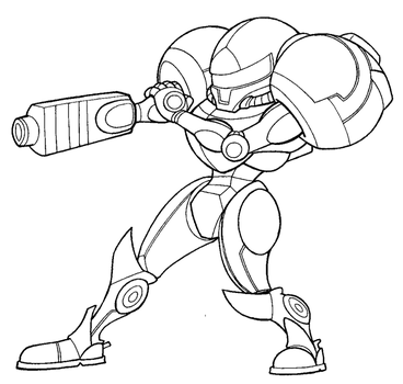 Samus Lineart by FlintofMother3