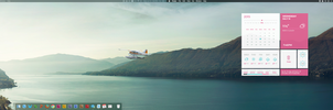 Dual iMac wallpaper with GeekTool and Ubersicht by xBWCx
