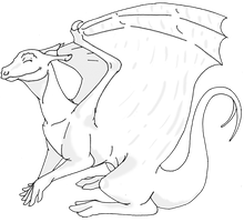 Pernese Dragon Template by GryphonOftheNorth