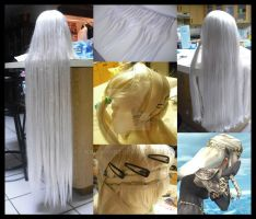 Dark Zelda Wig Progress by KawaiiGir2
