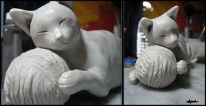 :.second cat - WIP.: by XPantherArtX