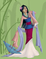 Mulan Colored by JaqD