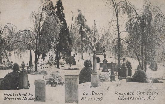 Graveyard After Ice Storm by Yesterdays-Paper