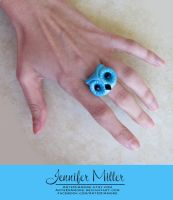 Blue Owl Ring by ArteDiAmore