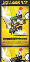 Back to School Party Flyer Template v6 by Hotpindesigns