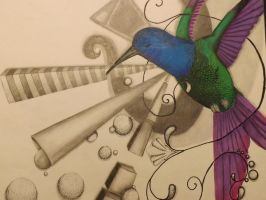 Abstract Bird - finsihed by akina-nicole