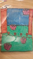 My stained glass project(not really stained glass) by Toothshy11