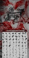 88 Bloody Splatters Photoshop Brushes by env1ro