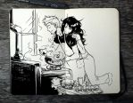 #331 Breakfast for Two by 365-DaysOfDoodles