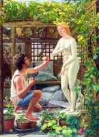 Pygmalion, 2006, Oil on Canvas by morkun