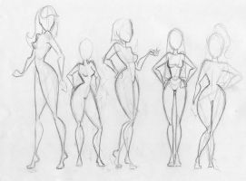 BFA Thesis- Women bodytypes by KCretcher