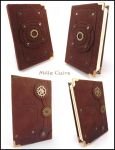Tiny steampunk notebook by MilleCuirs