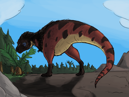 Quick and Ugly Speedpainting: Lonely T. rex by Green-Mamba