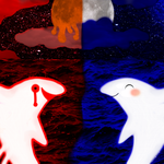 The Seas of Red and Blue by TegamiBachiGauche