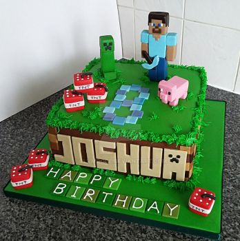Minecraft Cake by clvmoore